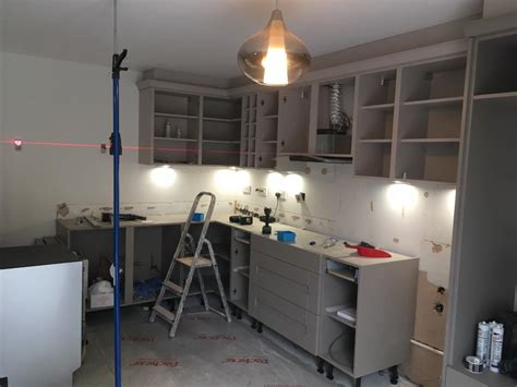 clients buckingham cashmere  stone grey shaker kitchen