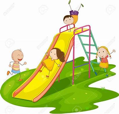 Playing Slide Illustration Playground Clip Vector Clipart