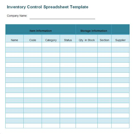 Inventory Spreadsheet Template 47 Free Word Excel