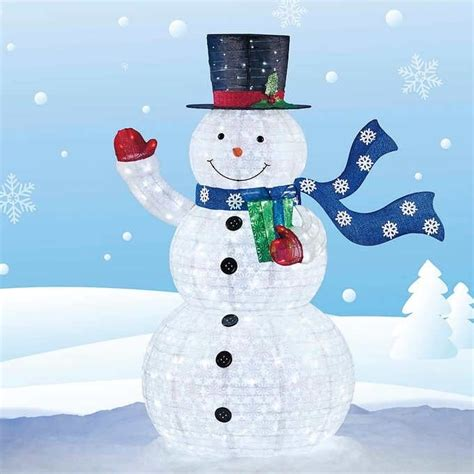 outdoor lighted snowman light up snowmen shop collectibles daily