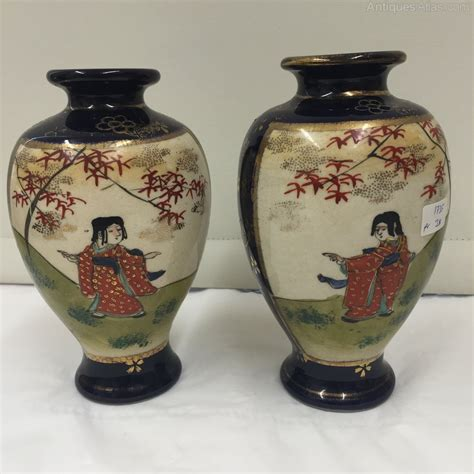 antiques atlas pair antique satsuma pottery vases circa