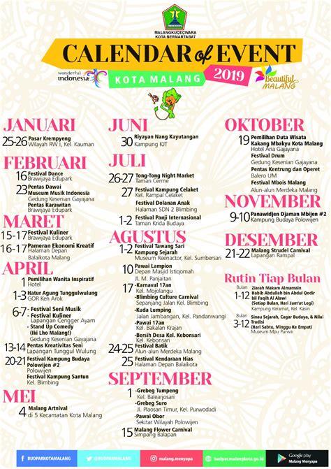 kalender event kota malang  photo malangberita