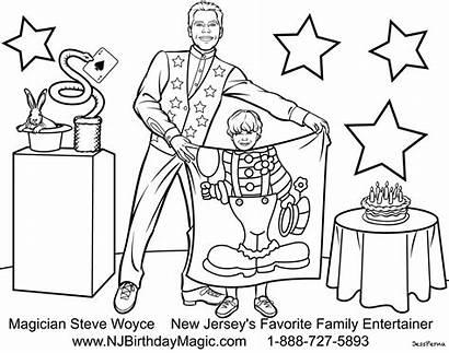 Magician Coloring Pages Magic Cartoon Drawing Magicians