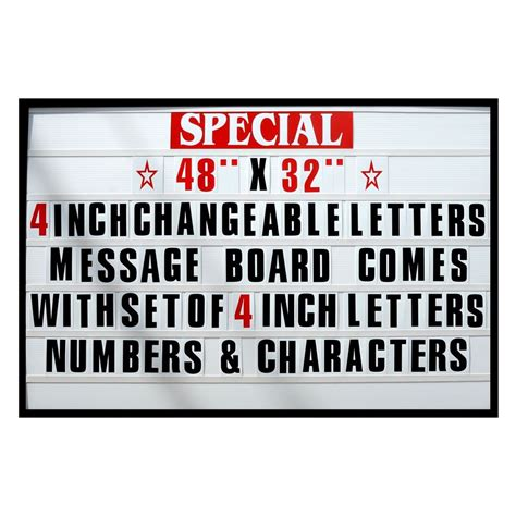 reader board letters 4 quot big changeable letter message sign menu price marquee 24197