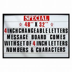 4quot big changeable letter message sign menu price marquee With changeable letter board