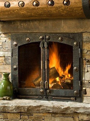 custom fireplace doors custom iron fireplace doors and handles by creations