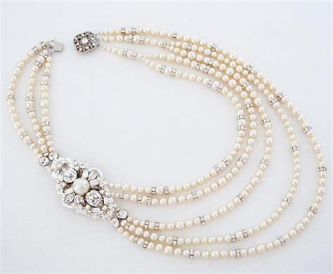 cheryl king bridal jewelry  strand bridal pearl necklace
