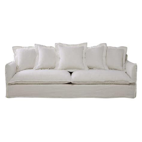canapé 4 5 places canapé 5 places en lavé blanc barcelone maisons du monde