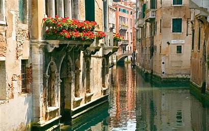 Italy Water Street Balcony Flower Dog Wallpapers