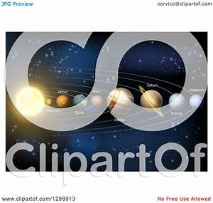 Clipart Of A 3d Diagram Of Planets In Our Solar System And