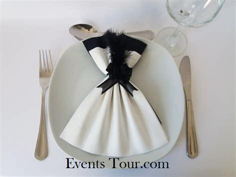 pliage serviette noir et blanc pliage de serviette blanc et noir x1 ref 10060