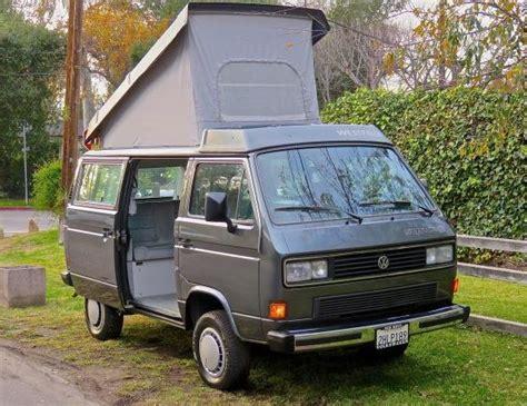 volkswagen van front 29k miles 1987 volkswagen westfalia syncro bring a trailer
