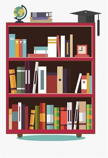 Bookshelf Cartoon Clip Shelf Books Clipart Transparent