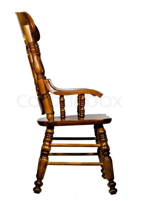 wood side chairs antique wooden chair side view stock photo colourbox 1149