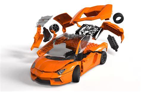airfix quick build lamborghini aventador lego