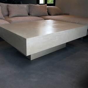 Table Basse En Beton : table basse b ton beige table basse b ton table basse design ~ Teatrodelosmanantiales.com Idées de Décoration