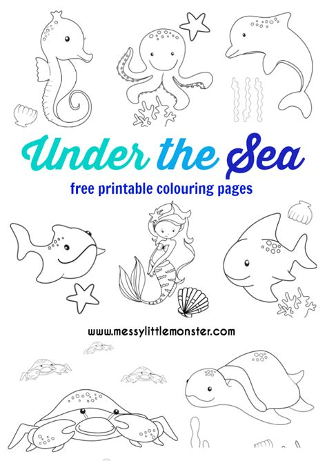 sea colouring pages  mermaid coloring pages summer coloring pages ocean