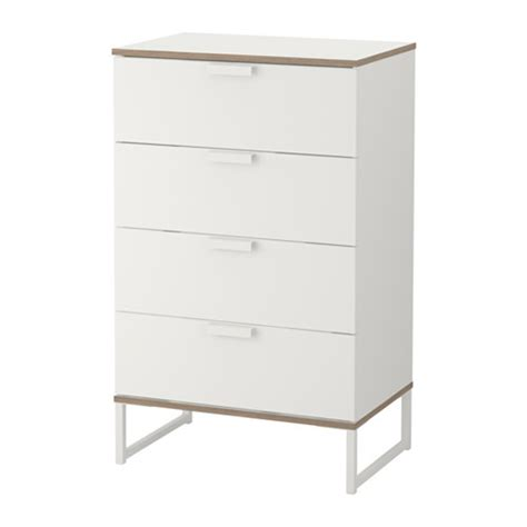 trysil chest of 4 drawers white light grey 60x99 cm ikea