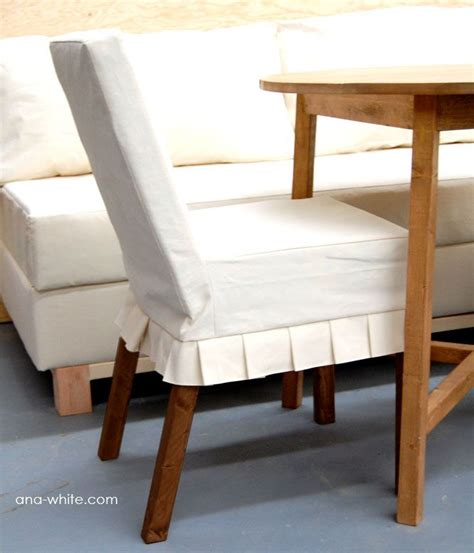 diy chair slipcover white build a drop cloth parson chair slipcovers