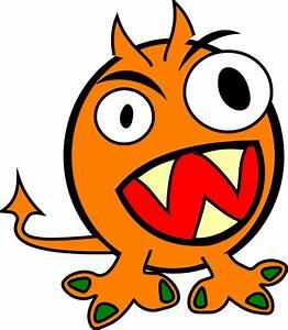 Orange Monster Clip Art at Clker.com - vector clip art ...