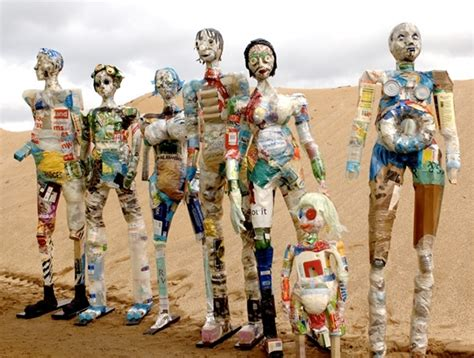 This Artist Makes Sculptures Out Of Other People's Rubbish