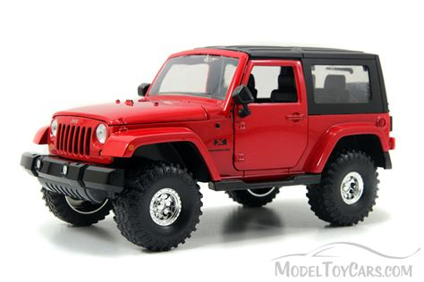 toy jeep car jeep wrangler red jada toys bigtime kustoms 92178 1
