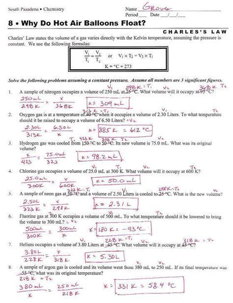 ideal gas problems worksheet homeschooldressage
