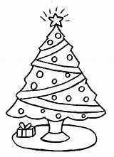 Coloring Christmas Pages Trees Tree Popular sketch template
