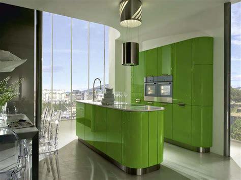 inspirasi desain dapur minimalis warna hijau design