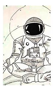 Process Video - Psychedelic Astronaut Art !! - YouTube