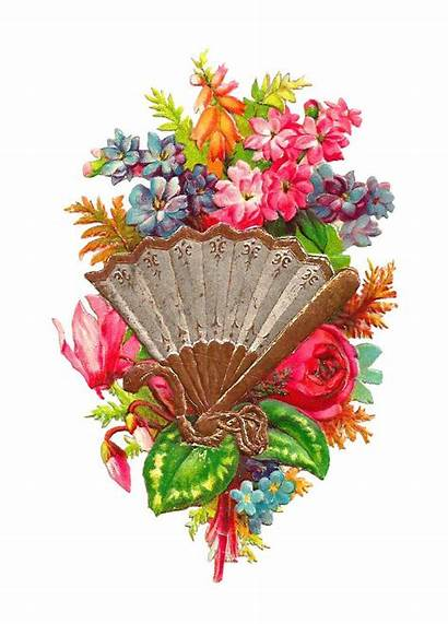 Clip Flowers Victorian Flower Clipart Summer Fan
