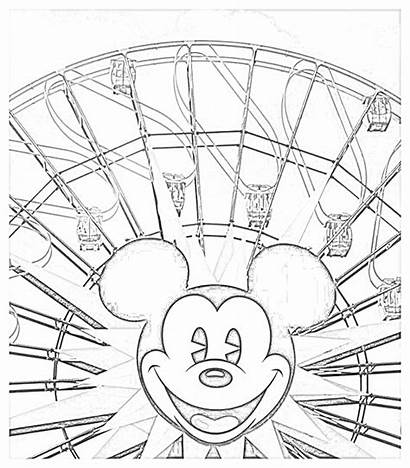 Disney Coloring Walt Pages Monorail Filminspector Rides