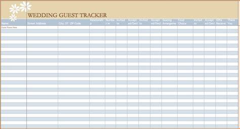 wedding guest list spreadsheet teknoswitch