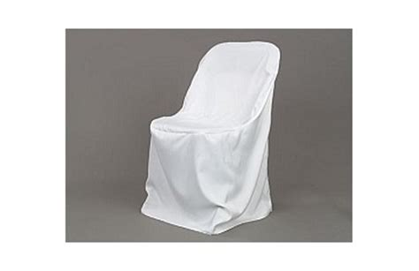 polyester folding chair cover white depot