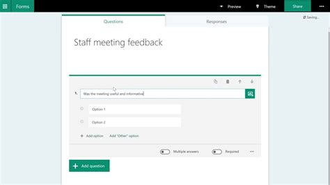 Office 365 Outlook Forms by Office365 Create A Survey With Forms