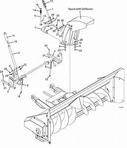 The Mower Shop  Inc Manual Spout Rotation And Manual Lift