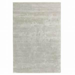 tapis gris haut de gamme viscose tufte main par ligne pure With tapis tufté gris
