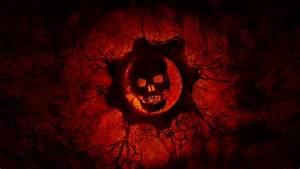 Wallpaper Crimson Omen, Red skull, Gears of War, HD, 4K ...