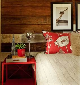 Bedroom weathered wall panel rustic country