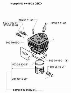 Husqvarna 257  1998 Cylinder