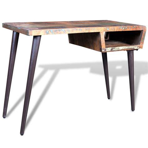 wood and iron desk vidaxl co uk reclaimed wood desk with iron legs