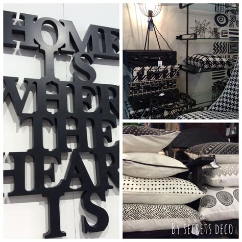 deco et noir objet de decoration noir et blanc