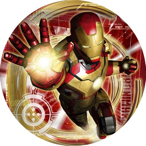 iron man  cake icing image  party started