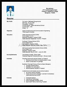 Doc High School Resume Template No Work