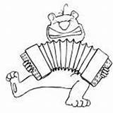 Accordion Chipmunk Playing Coloring sketch template