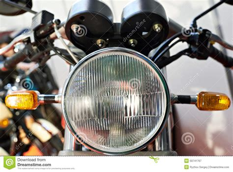 Headlight Motorcycle Stock Photo