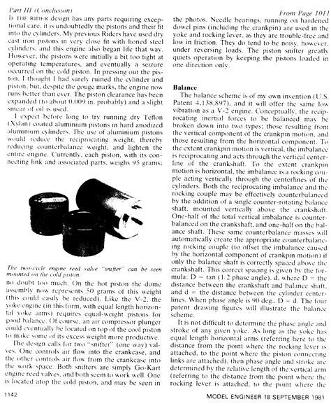 Тепловых машин стирлинга . . Расчет текущего давления в цикле