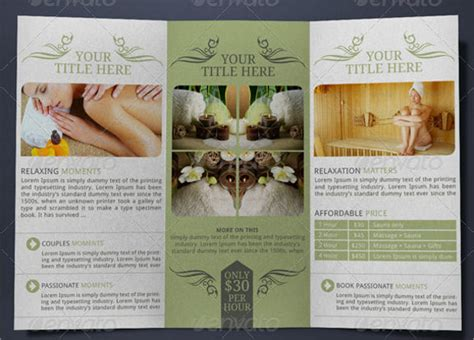 Free Spa Brochure Templates by 21 Spa Brochures Psd Vector Eps