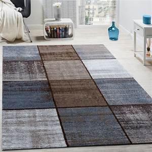 Türkische Teppiche Modern : designer teppich modern kurzflor karos speziell meliert creme beige braun wohn und schlafbereich ~ Markanthonyermac.com Haus und Dekorationen