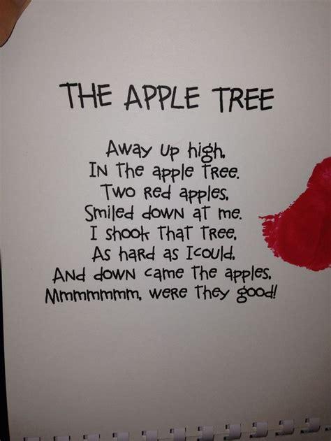 apple poem  images apple preschool preschool